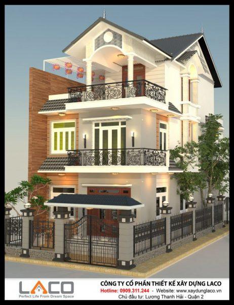 Mẫu Nhà 3 Tầng Mái Thái Tại Quận 2 Của Chú Hải