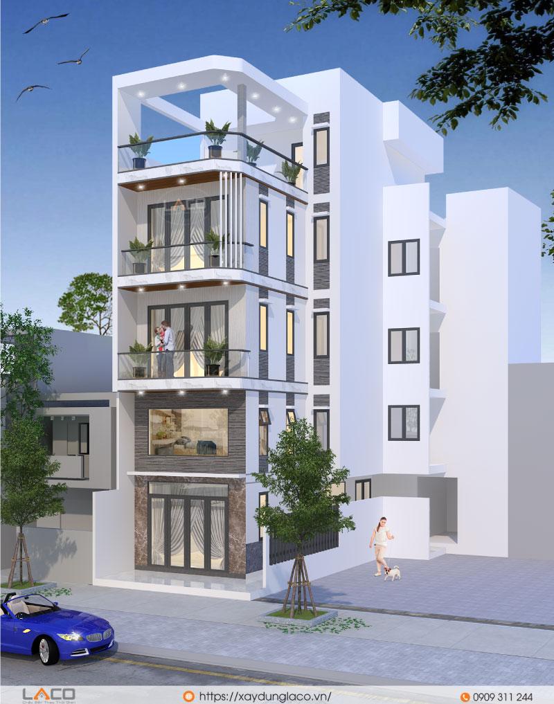 công trình nhà phố 5 tầng tại Bình Thạnh TPHCM