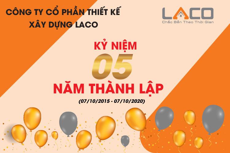 kỷ niệm 05 năm thành lập công ty cổ phần thiết kế xây dựng LACO