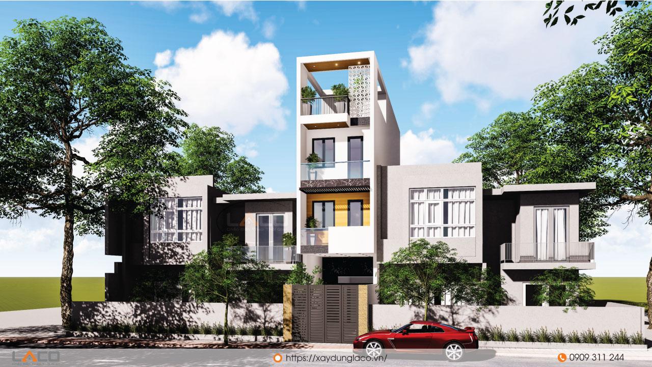 công trình nhà phố 4 tầng của anh Tú tại quận 2 TPHCM