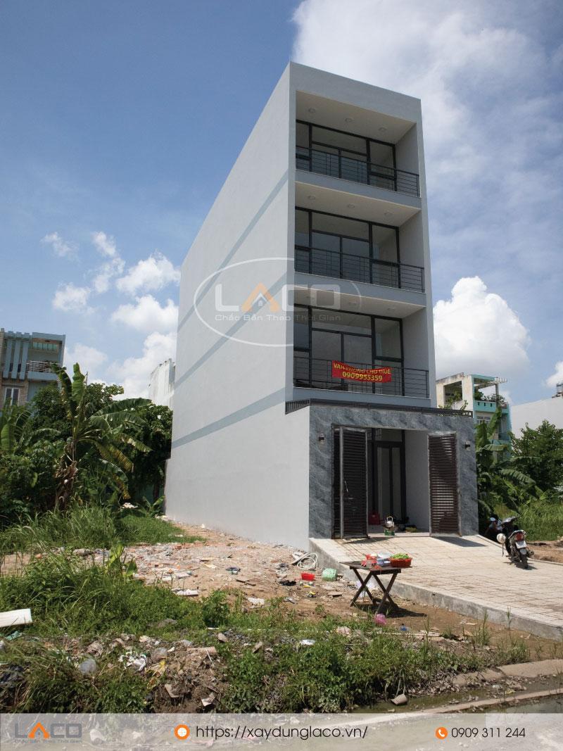 tòa nhà văn phòng 4 tầng tại quân 2 do xây nhà trọn gói laco thực hiện