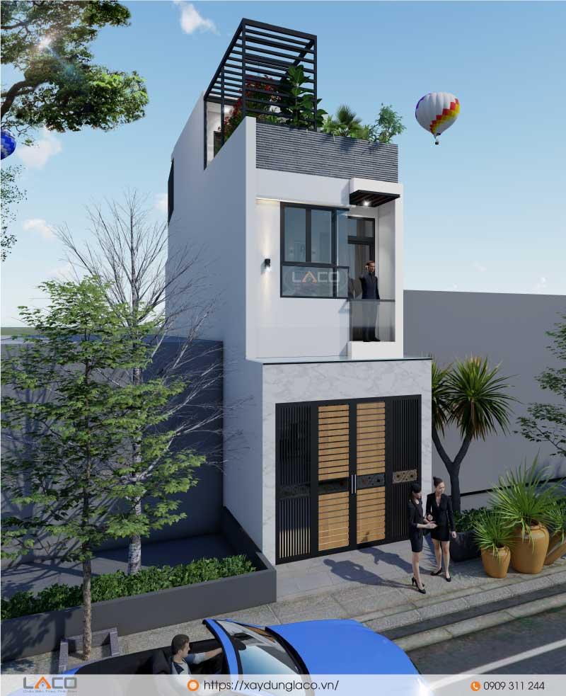 phối cảnh nhà phố 3 tầng tại quận 9 TPHCM